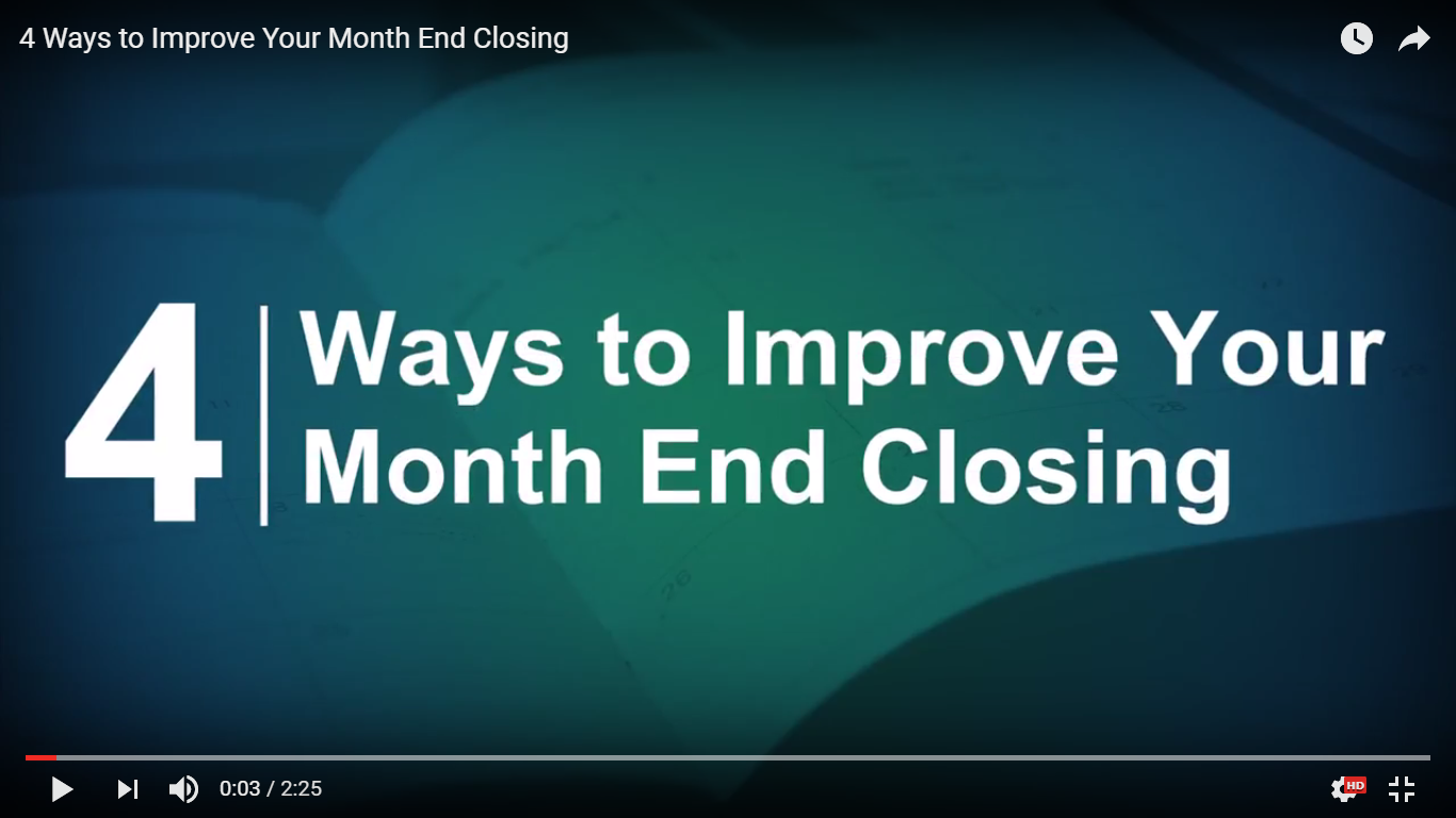 4 Ways to Improve Your Month End Closing