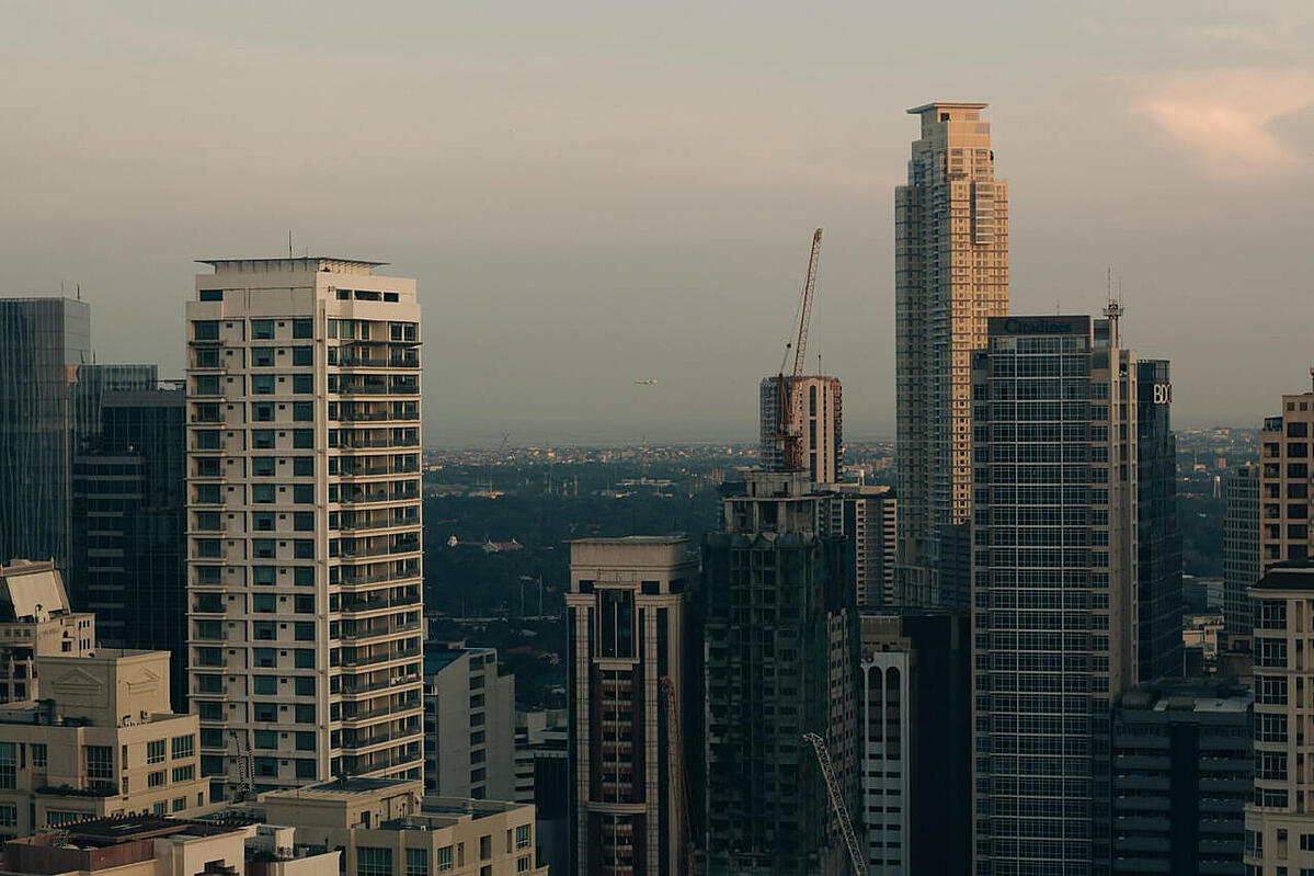 view of buildings and skyscrapers