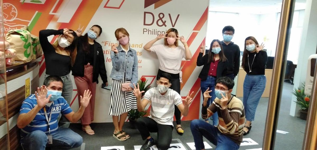 D&V employees having fun at work