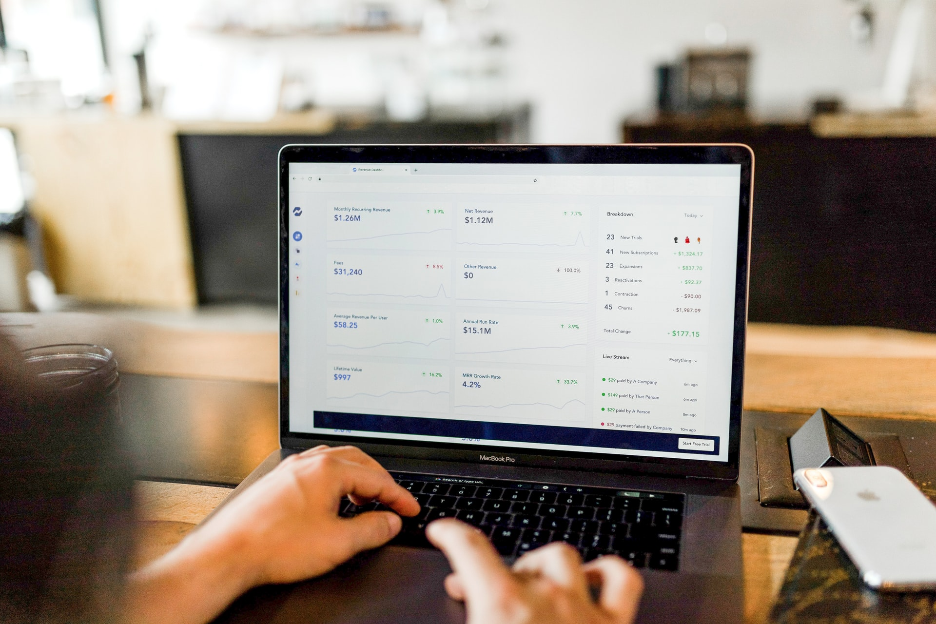 cloud accounting software used by small business owner
