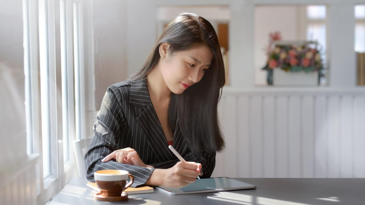 Woman considering outsourced accounting services