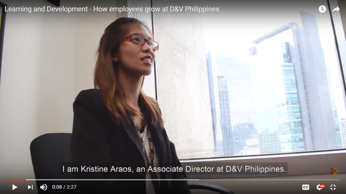 Learning and Development - How employees grow at D&V Philippines