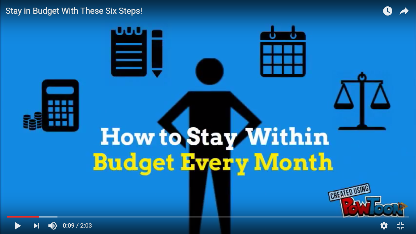 Stay in Budget With These Six Steps